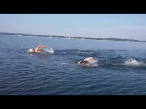 Fast Open Water Swimming Techniques by a 13 Year Old