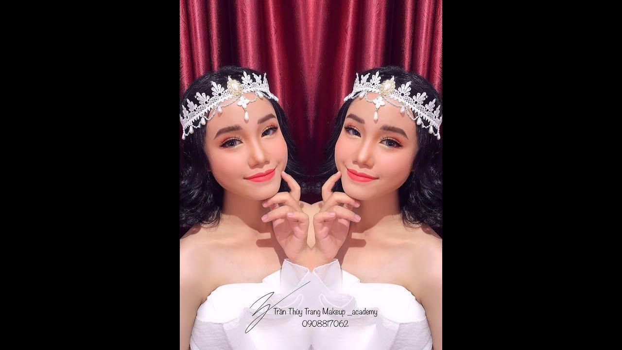 Hướng dẫn Makeup cô dâu tông cam đào dịu ngọt cho ngày cưới