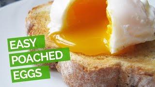 Easy Poached Eggs (No Vinegar)