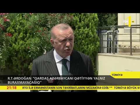 R.T.Ərdoğan: 'Qardaş Azərbaycanı