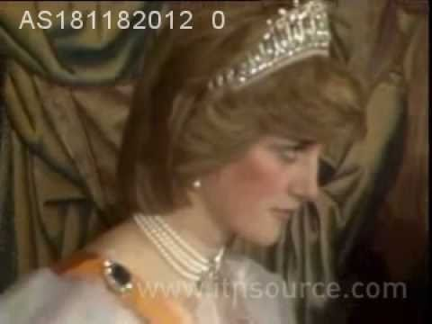 Princess Diana at a banquet