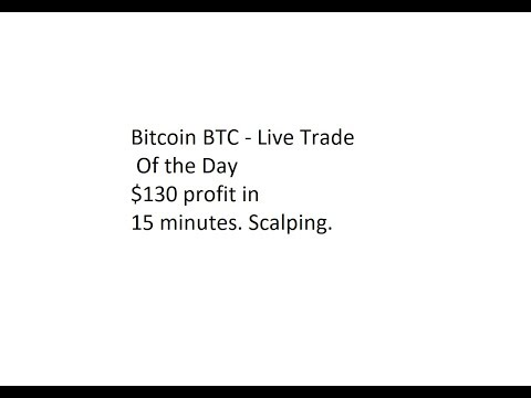 Bitcoin BTC - Live Trade Of The Day - $130 Profit In 15 Minutes. Scalping.
