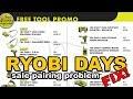 Ryobi Days sale problem - FIX!