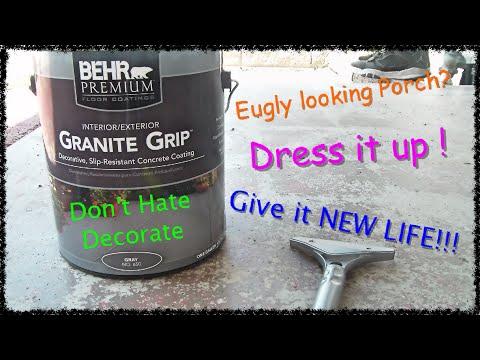 Concrete Patio With Behr Granite Grip