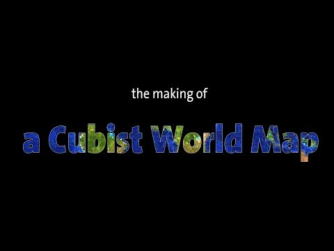The making of a Cubist World Map