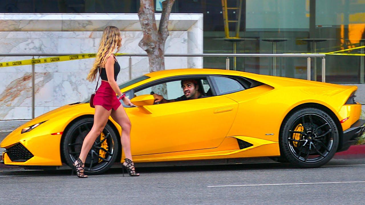 Picking Up Bus Riders In A Lamborghini Huracan Prank Hoomantv
