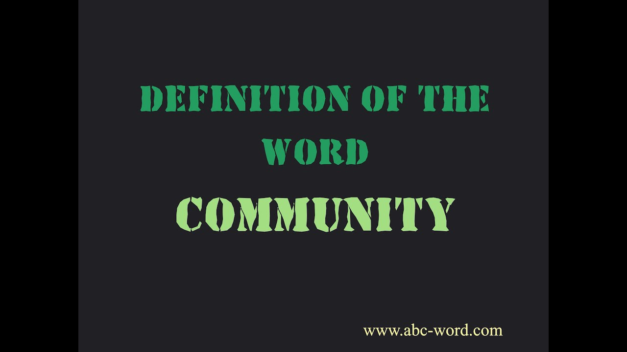 definition of the word community