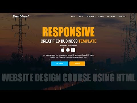 Build Complete Responsive Website Design using HTML 5 /CSS 3 /JavaScript
