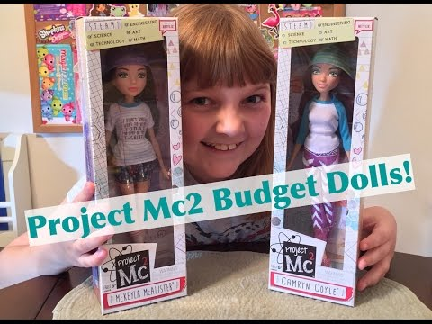 NEW Fall 2016 Project Mc2 Budget Basic Dolls McKeyla McAlister & Camryn Coyle – Unboxing & Review