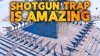 SHOTGUN TRAP IS A BEAST - Rust