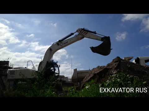Экскаватор RM TEREX ЕК 14 20,вернулся на старую территорию ,работа экскаватора, смотрим со стороны