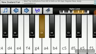 Udja kale kawa tere piano tutorial
