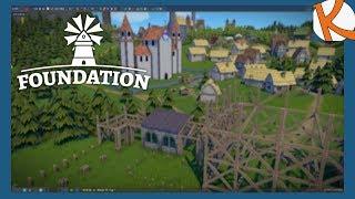 Die ersten kleinen Teile des Klosters stehen • Foundation Gameplay German #14