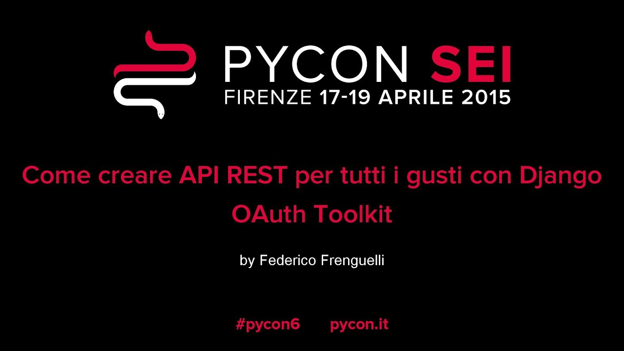 Image from Come creare API REST per tutti i gusti con Django OAuth Toolkit