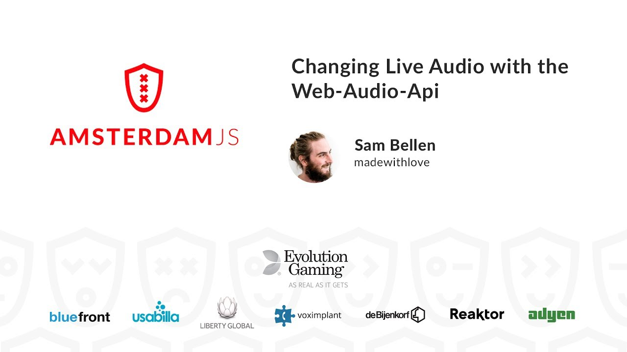 Changing Live Audio with the Web-Audio-Api – Sam Bellen