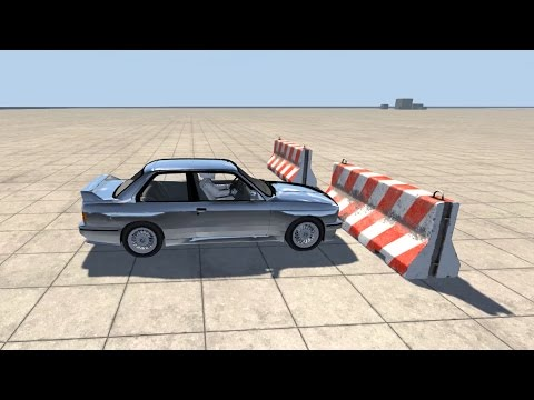 BeamNG Drive - BMW M3 E30 Crash Testing Feat. The Stig