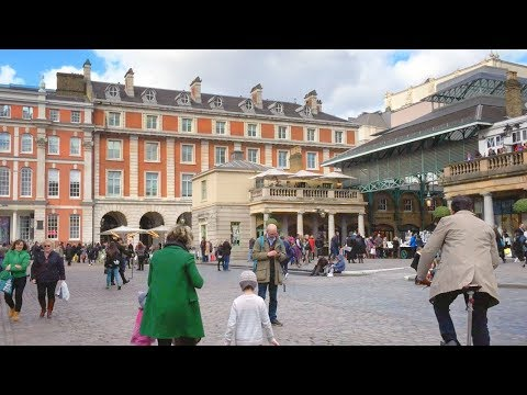 Covent Garden from Leicester Square Station - Walking in London