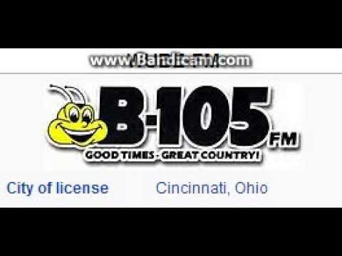 WUBE-FM 105.1 B105 Cincinnati, OH TOTH ID at 4:00 p.m. 6/15/2014