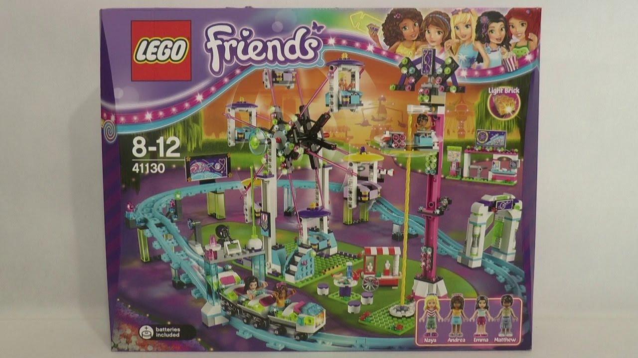 Lego Friends 41130 Kolejka Górska W Parku Rozrywki Youtube