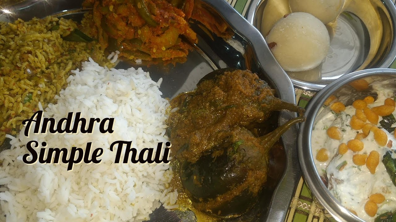 Veg Lunch Menu Recipes Andhra Special Andhra Lunch Menu Recipes Simple South Indian Thali
