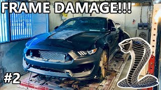 Rebuilding A Wrecked Copart 2018 Ford Mustang Shelby GT350 Framework SRS Part 2