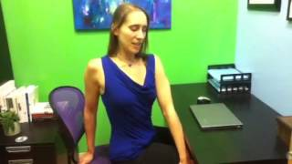 Yoga at Your Desk - Twist to Soothe Back Aches with Kerry Maiorca of Bloom Yoga Studio
