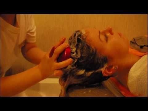 Rachael's Scalp Treatment in Suin's Hair Salon