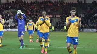 Stags' fans applaud players at Plymouth