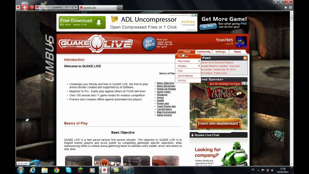 Tuto Comment jouer à Quake Live