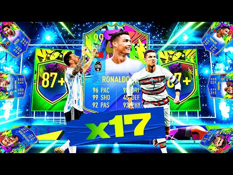 What Do You Get From 17 X 87+ Triple Upgrade Summer Stars Packs? #FIFA21