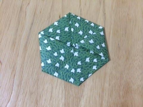 ハート 折り紙 折り紙 六角形 折り方 : youtube.com