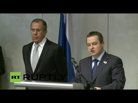 LIVE: Lavrov and Serbia FM Dacic hold join press conference in Belgrade