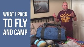 What I pack to fly and camp out of a rental car