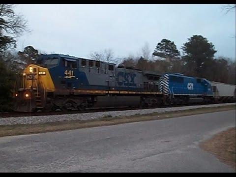 CSX & UNION PACIFIC RAILFANNING NORTH CAROLINA MARCH 2014.....VIDEO #257