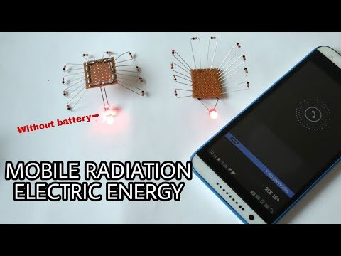 Radiation into electric energy | led without battery | from mobile radiation
