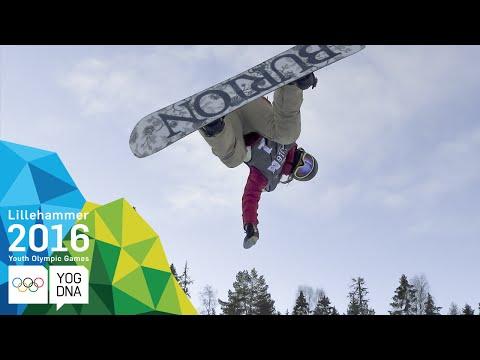 Snowboard Halfpipe - Chloe Kim (USA) wins Ladies' gold | Lillehammer 2016 Youth Olympic Games