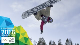 Snowboard Halfpipe - Chloe Kim (USA) wins Ladies' gold | ​Lillehammer 2016 ​Youth Olympic Games​