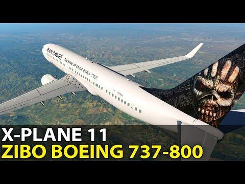 Ready to Rock! Zibo Modified Boeing 737-800 in X-Plane 11, PilotEdge ✈️ 2017-06-23