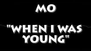 MO WHEN I WAS YOUNG KARAOKE VERSION INSTRUMENTAL REMAKE