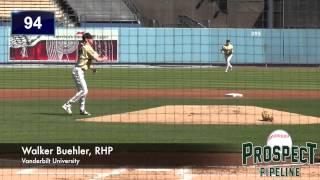 Walker Buehler Prospect Video, RHP, Vanderbilt University #mlbdraft #vandy
