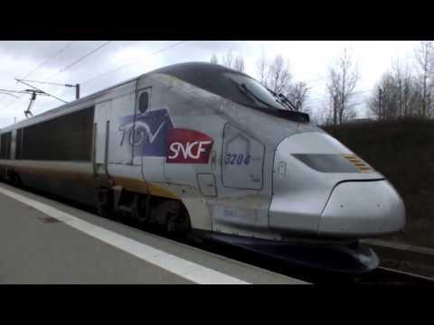 TGV 3204 Departs Calais Fréthun to Paris
