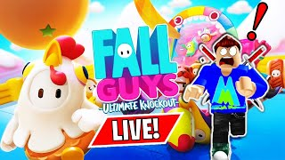 🔴 First Time Playing Fall Guys: Ultimate Knockout! Fun New Battle Royale Game