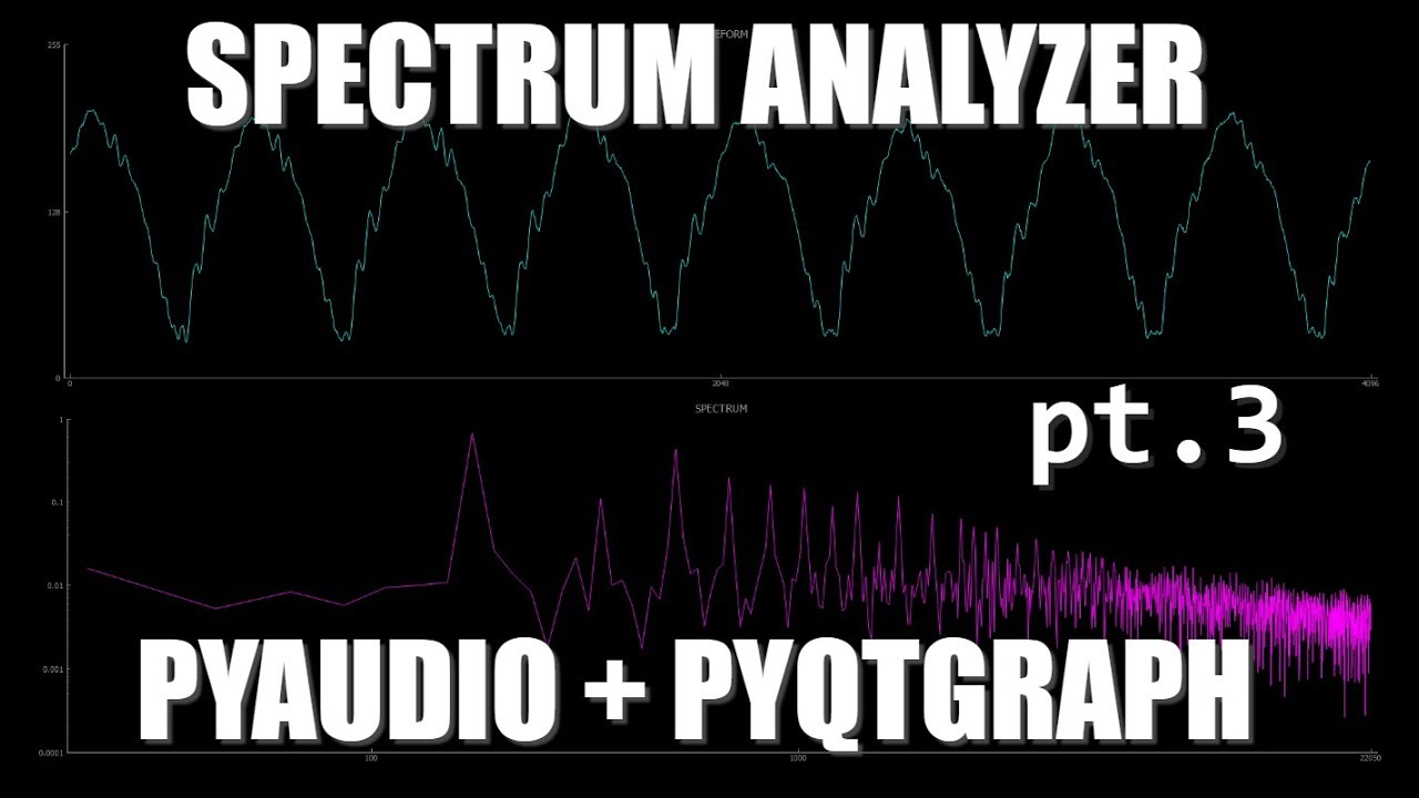 Let's Build an Audio Spectrum Analyzer in Python! (pt  3) Switching to  PyQtGraph by Mark Jay