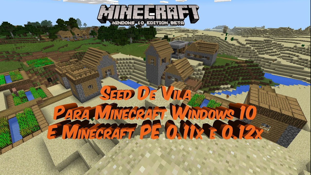how to use seeds in minecraft windows 10