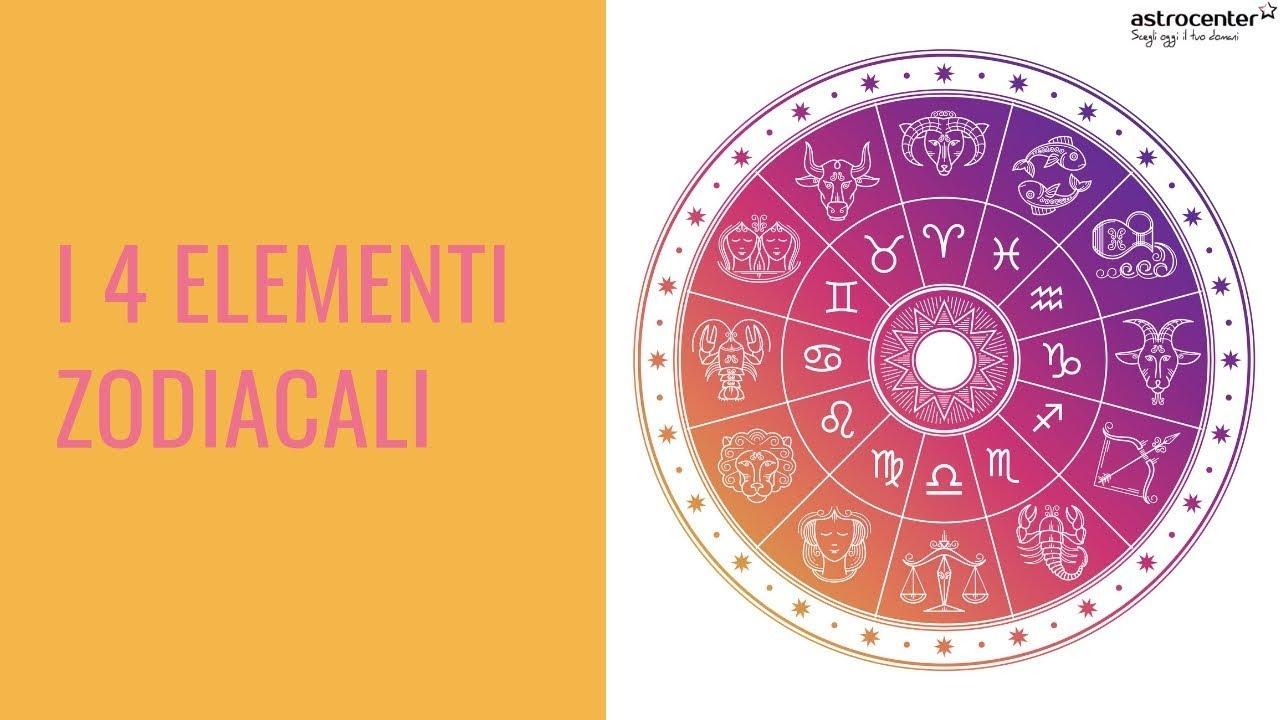 Calendario Lunare Segni Zodiacali.I 4 Elementi Dei Segni Zodiacali Aria Acqua Terra O Fuoco
