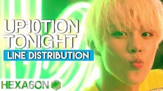Video UP10TION - Tonight Line Distribution (Color Coded) download MP3, 3GP, MP4, WEBM, AVI, FLV Januari 2018