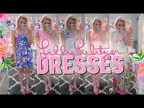 LILLY PULITZER TRY-ON: DRESSES!! SPRING LOOKBOOK (PREPPY OUTFITS) || Kellyprepster