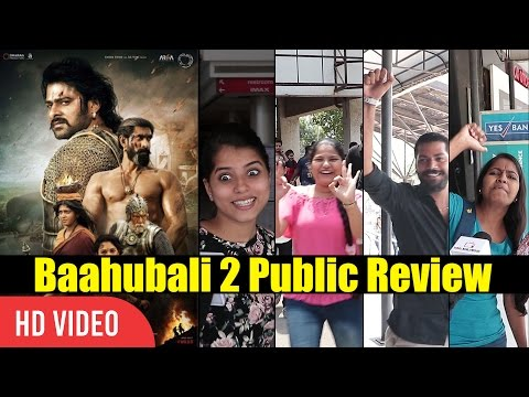 Baahubali 2 Public Movie Review  Prabhas, S.S Rajamouli   Baahubali First Day First Show Review