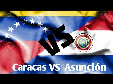 CIUDAD CAPITAL DE VENEZULA VS CIUDAD DE ASUNCIÓN PARAGUAY | ACTUALIZADO