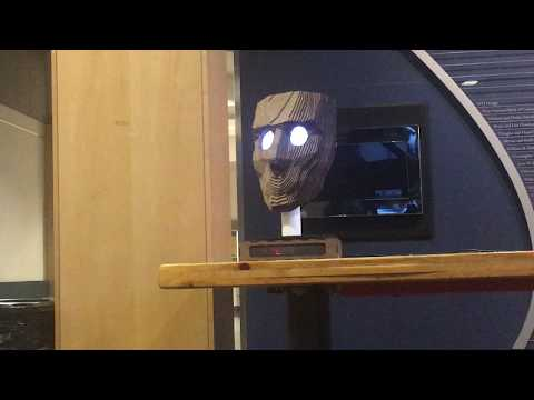 Arduino Blog » This motion-tracking face follows you across the room